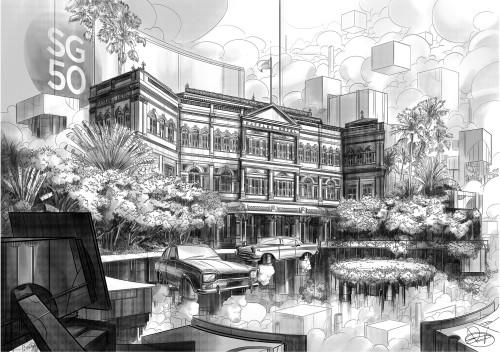 a)Dezichui_RafflesHotel&ResortSingapore_Mixedmedia_594x420mm_2015
