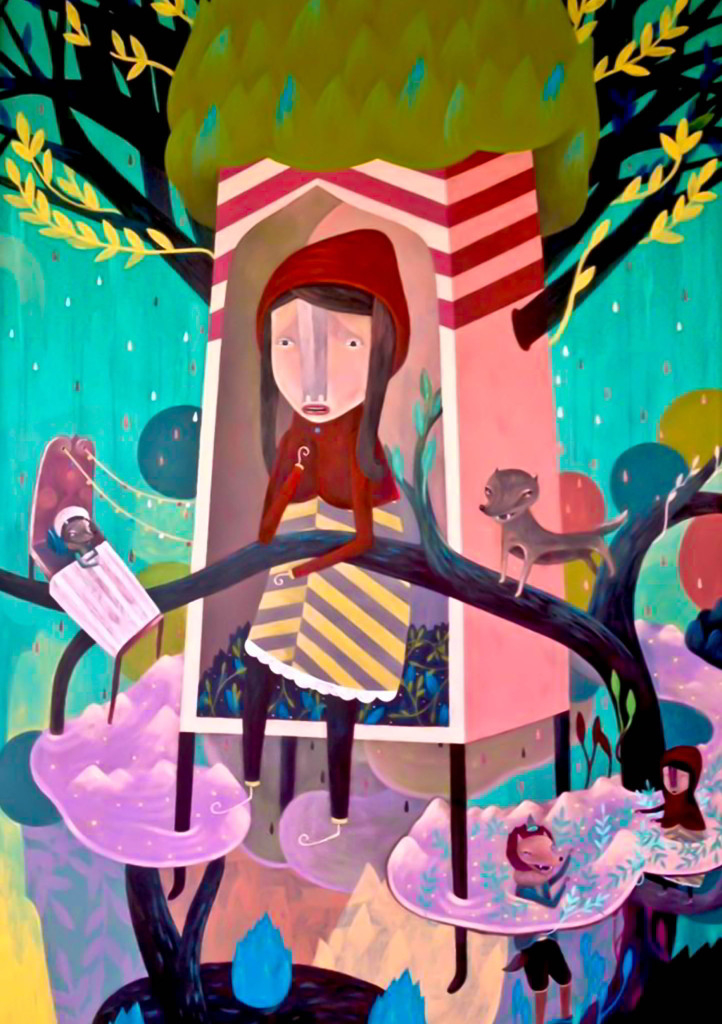 Farley del Rosario The Tree House 2015 acrylic on canvas 183 x 122