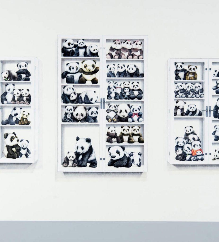 DH-7 Pandas in Display Case 2009
