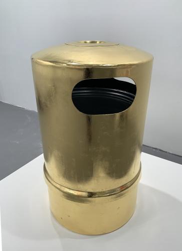 Object of Desire 24 karat gold leaf on polyethylene bin D60cm x H98cm 2019