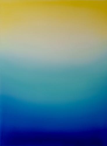 Untitled (Lemon Yellow, Turquoise Green & Ultramarine Blue)Oil on Canvas W90cm x H120cm SGD $1,800