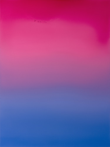 Untitled (Quinacridone Rose, Manganese Violet & Cobalt Blue) Oil on Canvas W90cm x H120cm