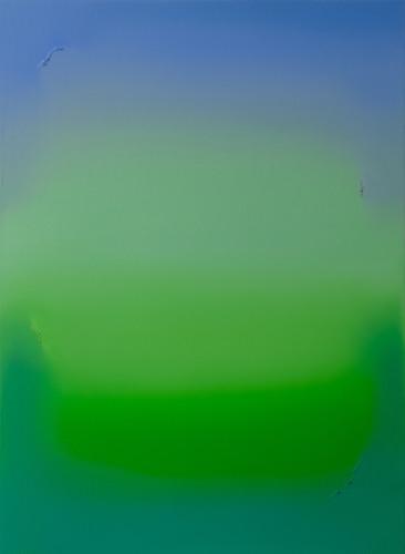 Untitled (Ultramarine Blue, Bright Green & Emerald Green)Oil on Canvas W110cm x H150cm SGD$2,250