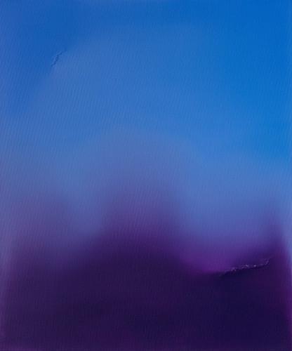Untitled (Ultramarine Blue & Dioxazine Violet)Oil on Canvas W50cm x H60cm SGD850