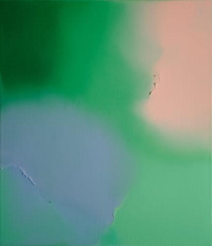 JamieTeo Untitled(BlushPink,Viridian,PermanentGreen,GreyishBlue)OilonCanvasW60xH70 cm
