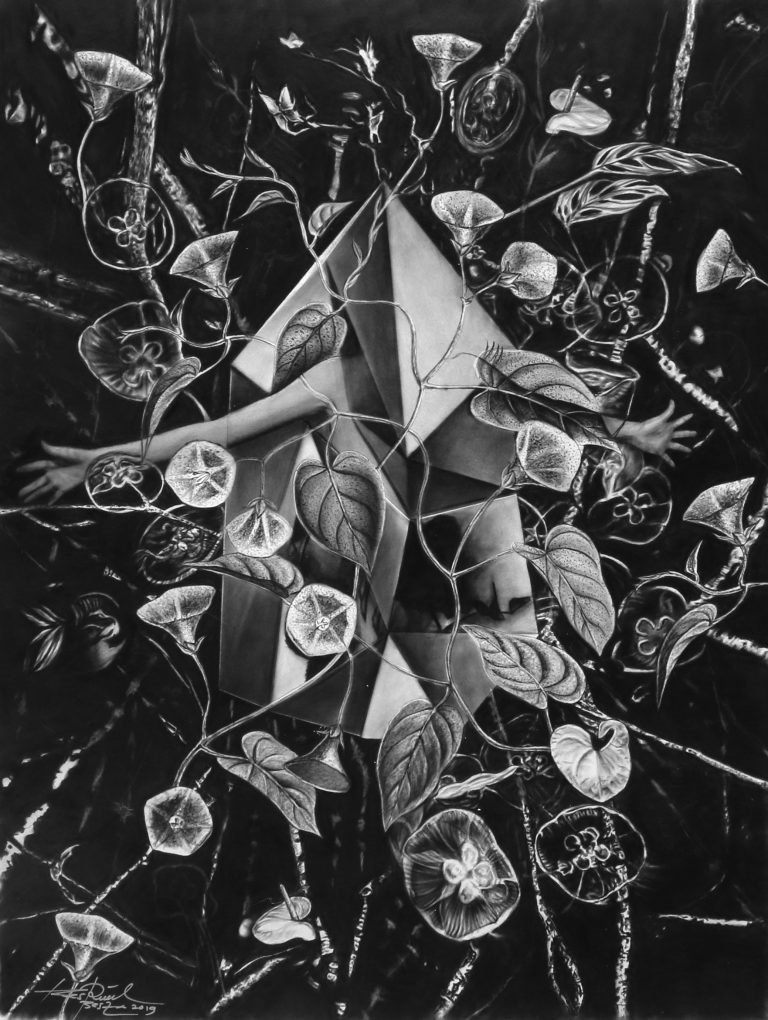 FEARLESS HOPE_2019_Charcoal on paper_H80 x W60 cm