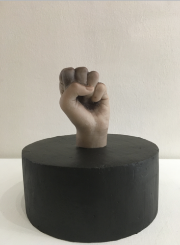 Brown Labour II_2020_Artists' hand-cast in brown wax_Dimensions Variable__As a pair with Brown Labour I