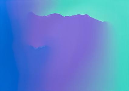 Untitled (Phthalo Blue, Dioxazine Purple & Turquoise Green)