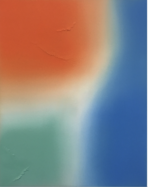 Untitled (Azo Orange, Cobalt Blue, Malachite Green)