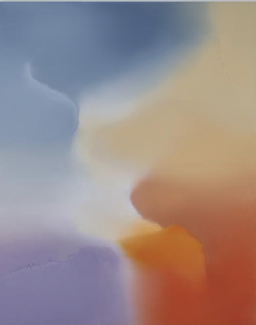 Untitled (Greyish Blue, Violet, Azo Orange, Buff Titanium)